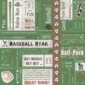 Adornit Baseball Blocks Scrapbook Paper